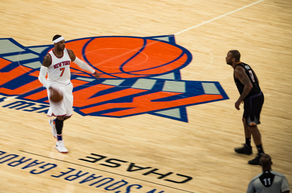 Melo playing point-guard